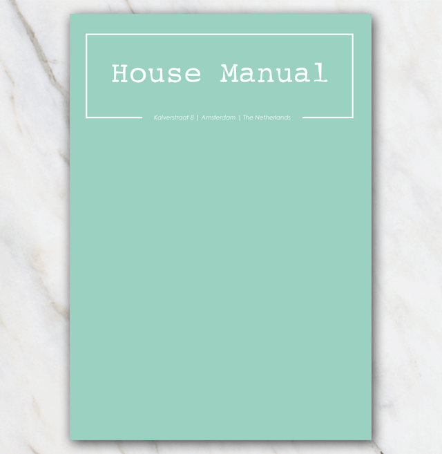 AirBnB House manual coverpage