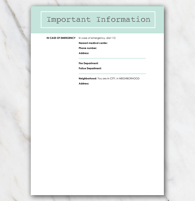 AirBnB House manual page 3