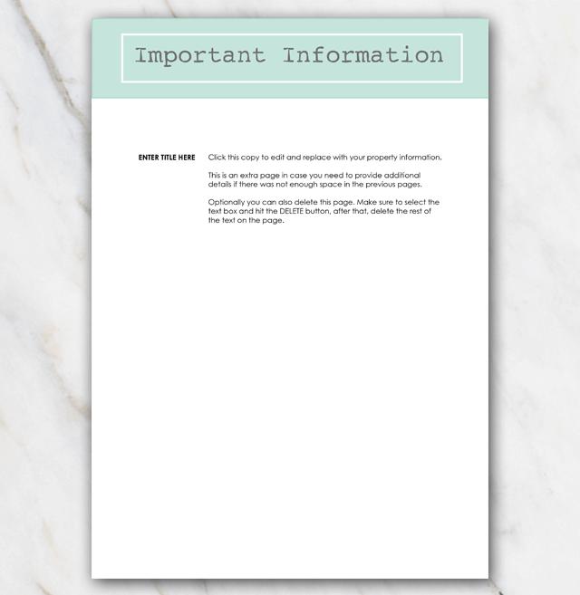 AirBnB House manual page 4