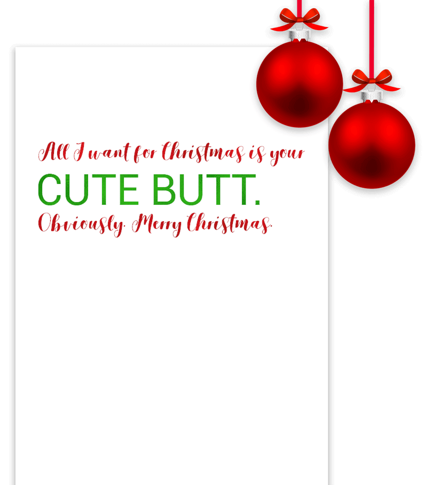 Example of printable funny Christmas quote