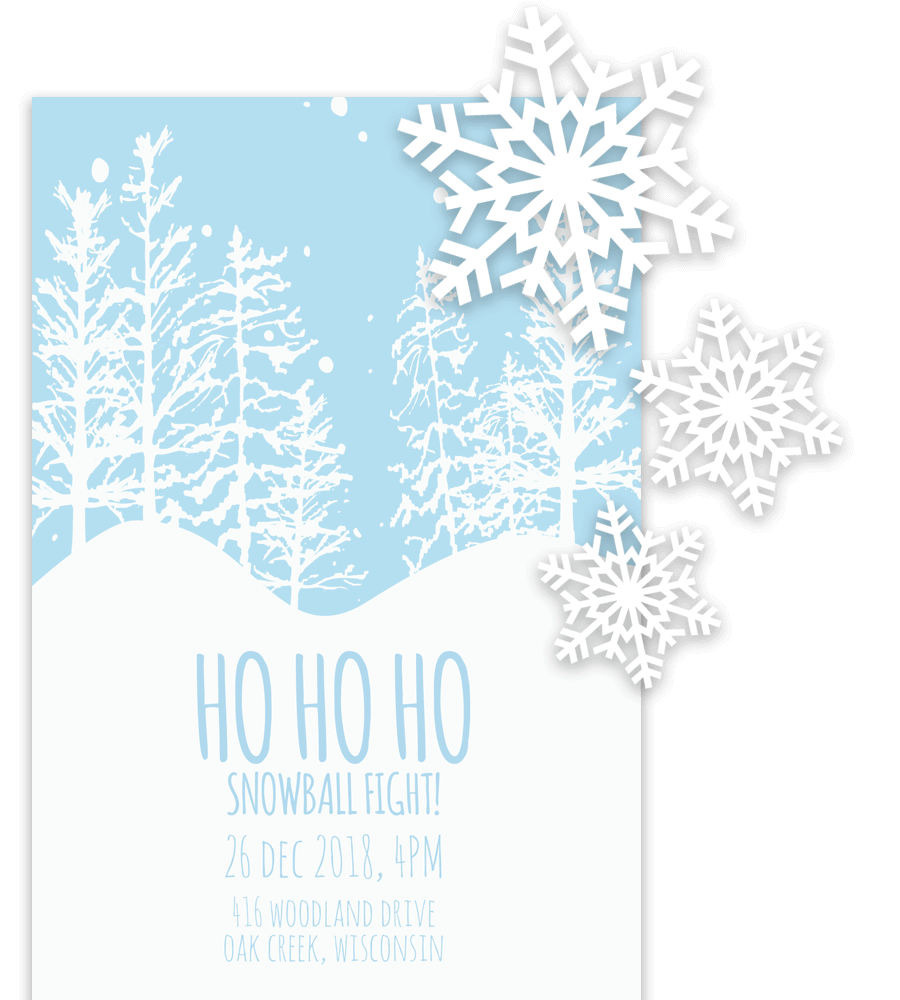 Example of christmas invitation template in Word