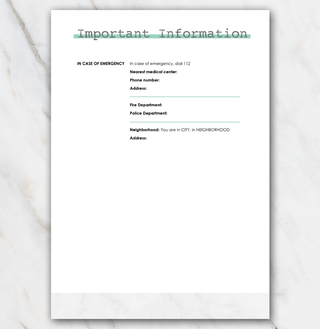 House manual airbnb page 3
