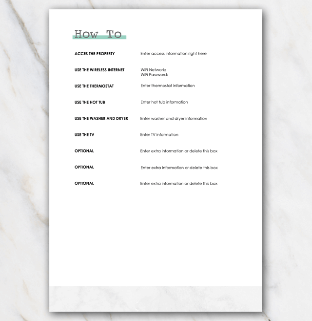 House manual airbnb page 6
