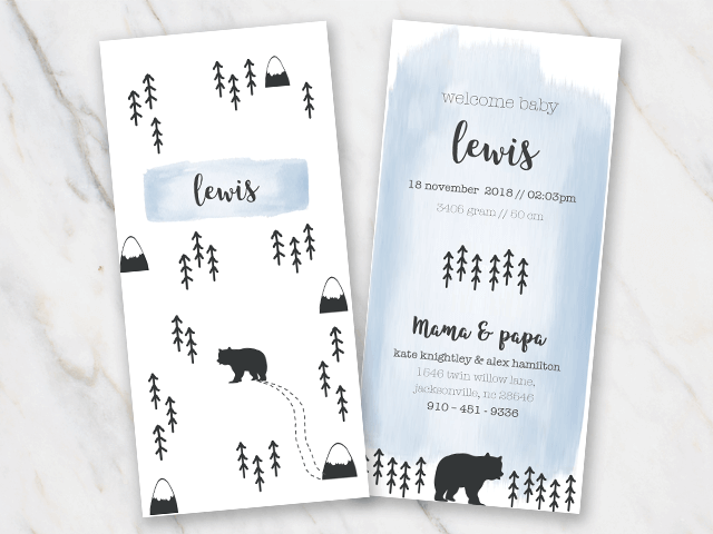 birth announcement template for baby boy