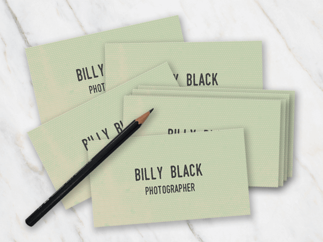 Vintage looking business card with typewriter font