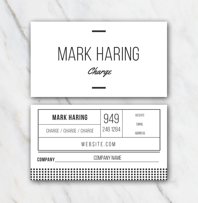 Mark Haring business card template