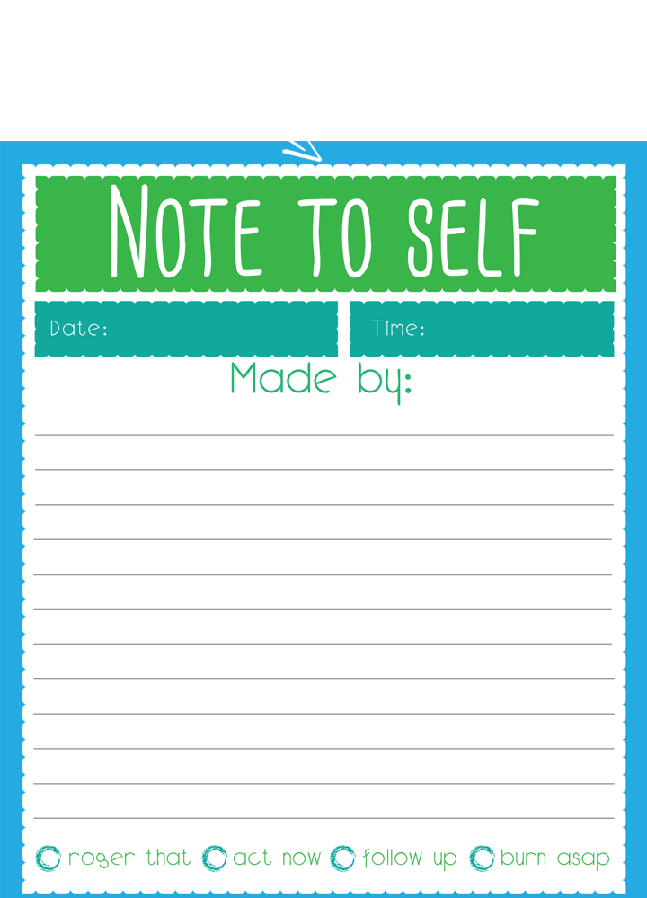 Example of printable PDF action plan in green and blue
